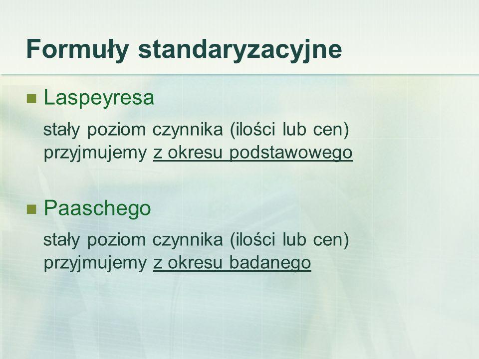 Formuły standaryzacyjne