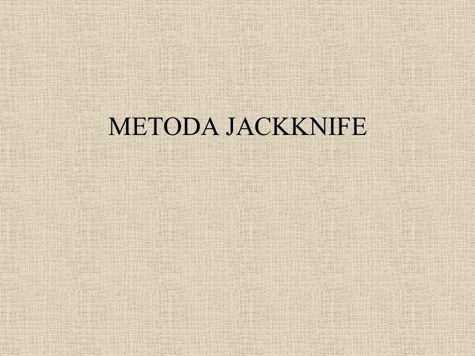METODA JACKKNIFE