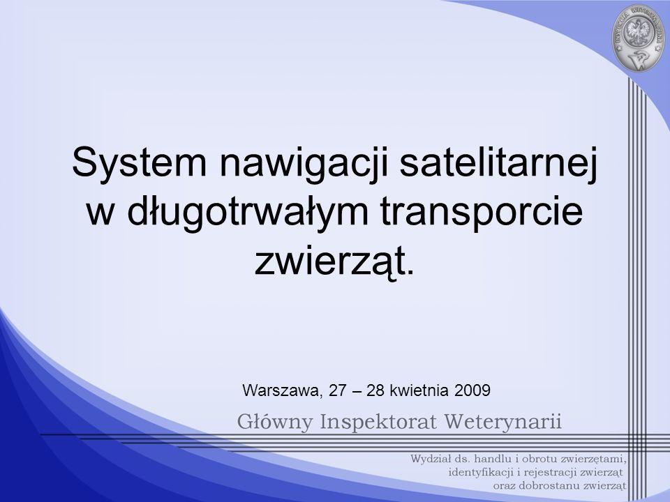 System nawigacji satelitarnej w długotrwałym transporcie zwierząt.