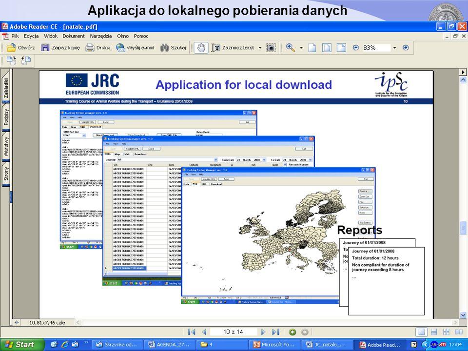 Aplikacja do lokalnego pobierania danych