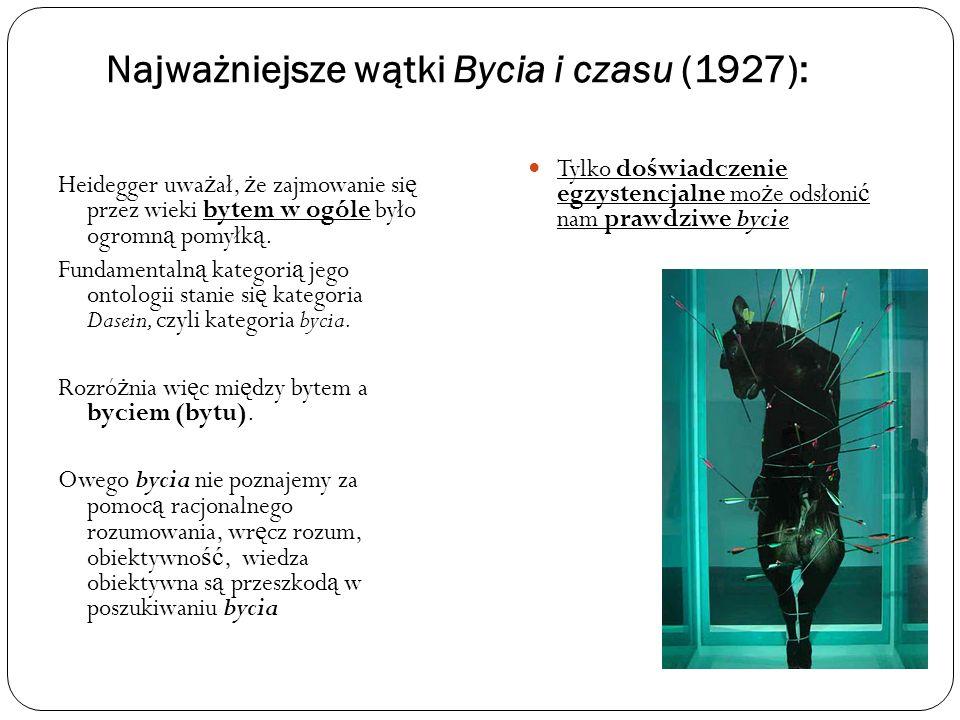 Najważniejsze wątki Bycia i czasu (1927):