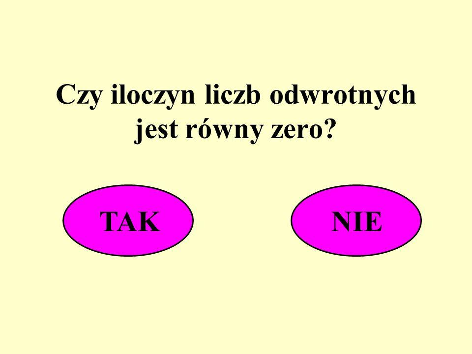 Czy iloczyn liczb odwrotnych jest równy zero