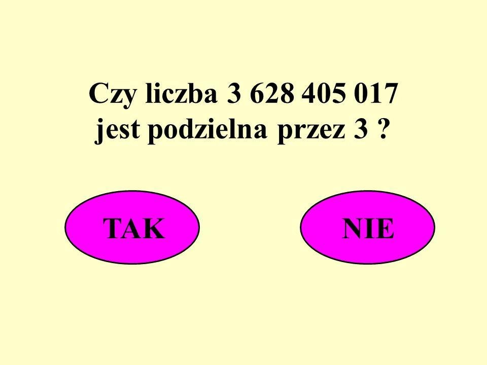 Czy liczba 3 628 405 017 jest podzielna przez 3