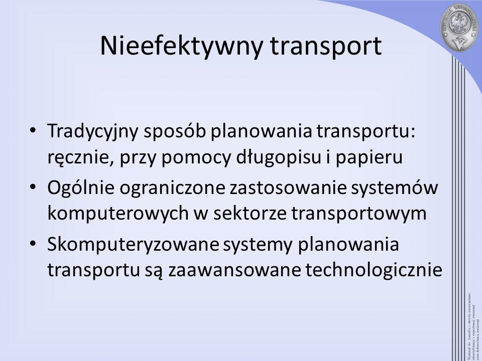 Nieefektywny transport