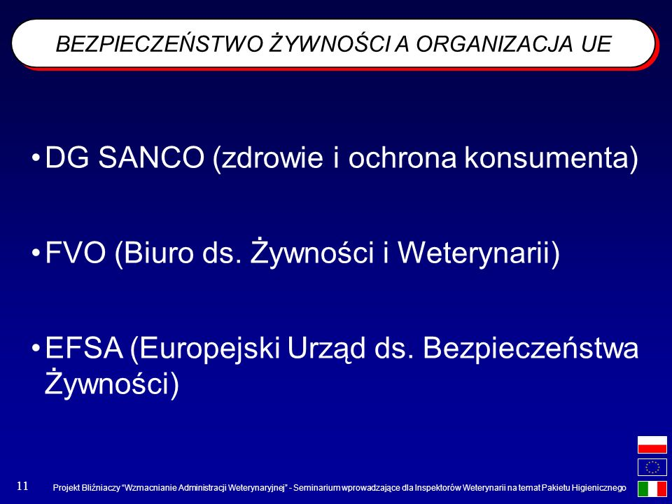 BEZPIECZEŃSTWO ŻYWNOŚCI A ORGANIZACJA UE
