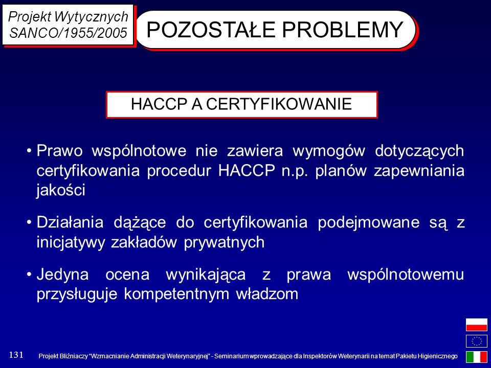 HACCP A CERTYFIKOWANIE