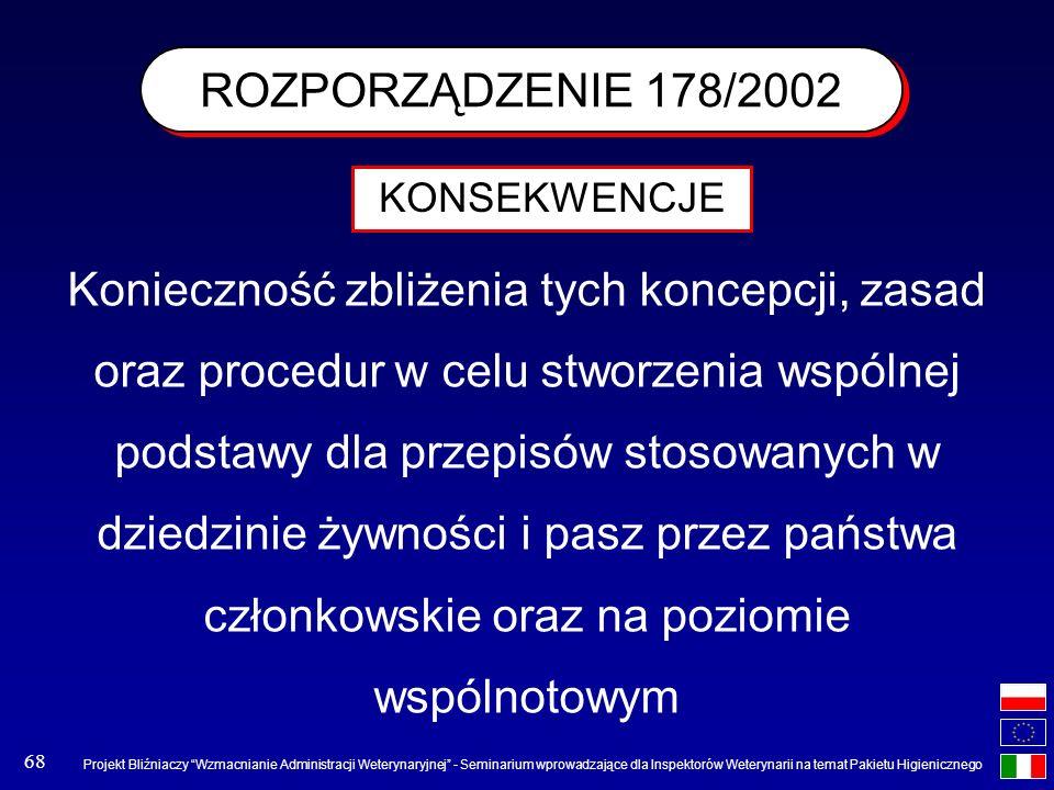 ROZPORZĄDZENIE 178/2002 KONSEKWENCJE.