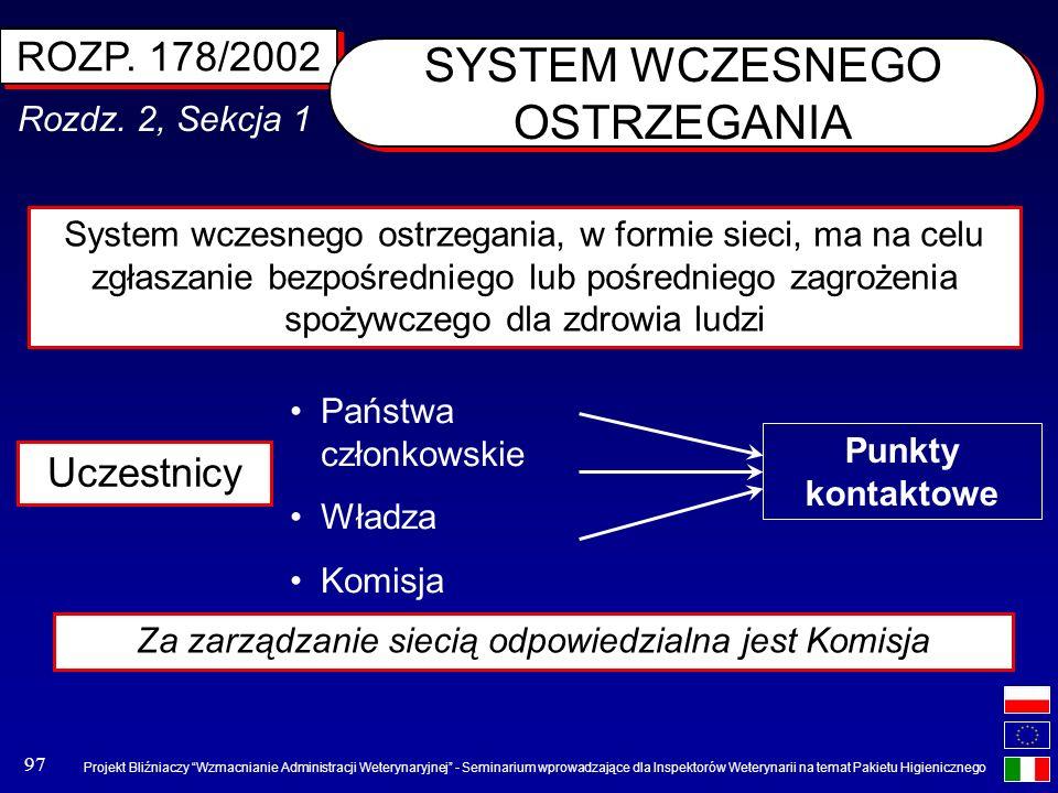 SYSTEM WCZESNEGO OSTRZEGANIA