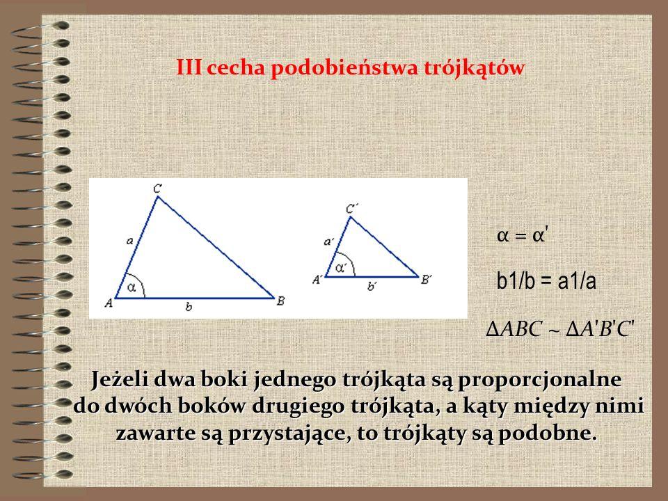 Jeżeli dwa boki jednego trójkąta są proporcjonalne