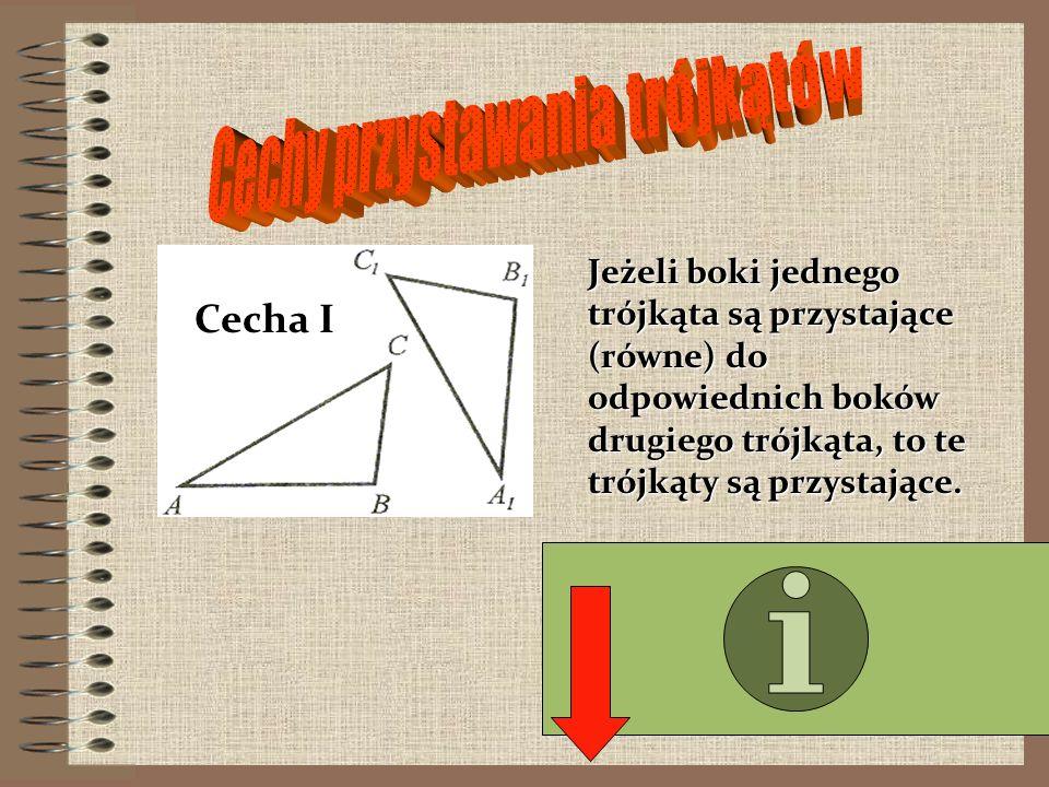 Cechy przystawania trójkątów