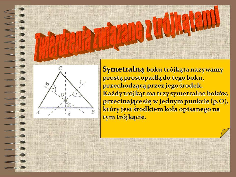 Twierdzenia związane z trójkątami