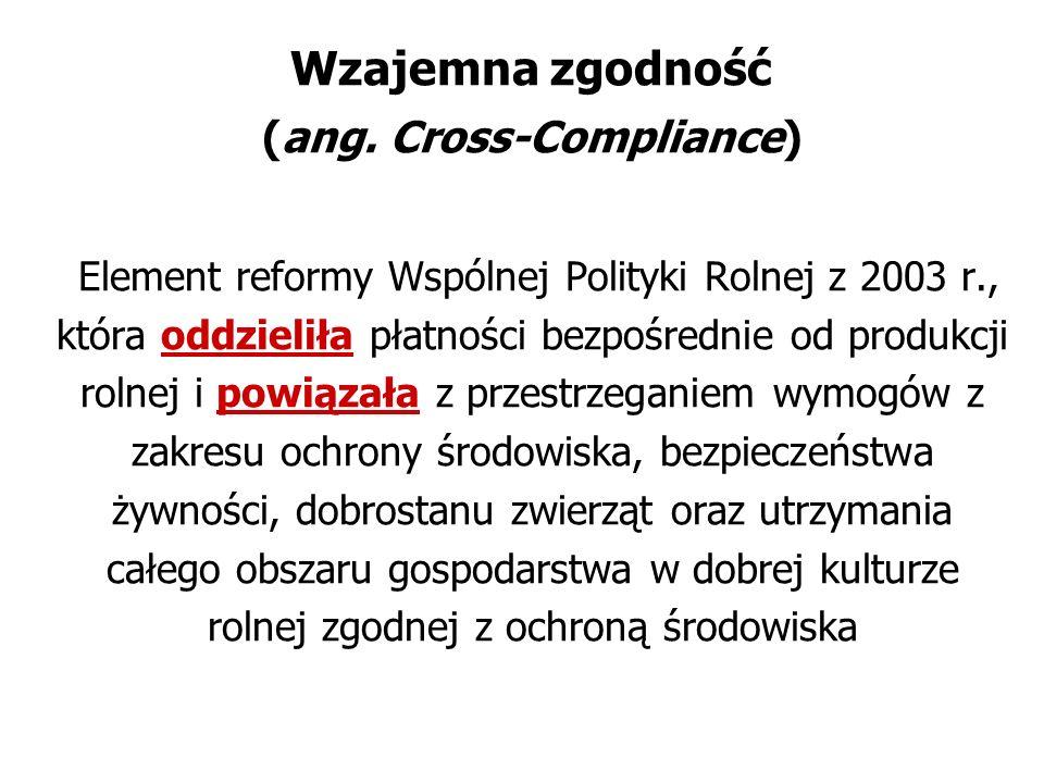 Wzajemna zgodność (ang. Cross-Compliance)