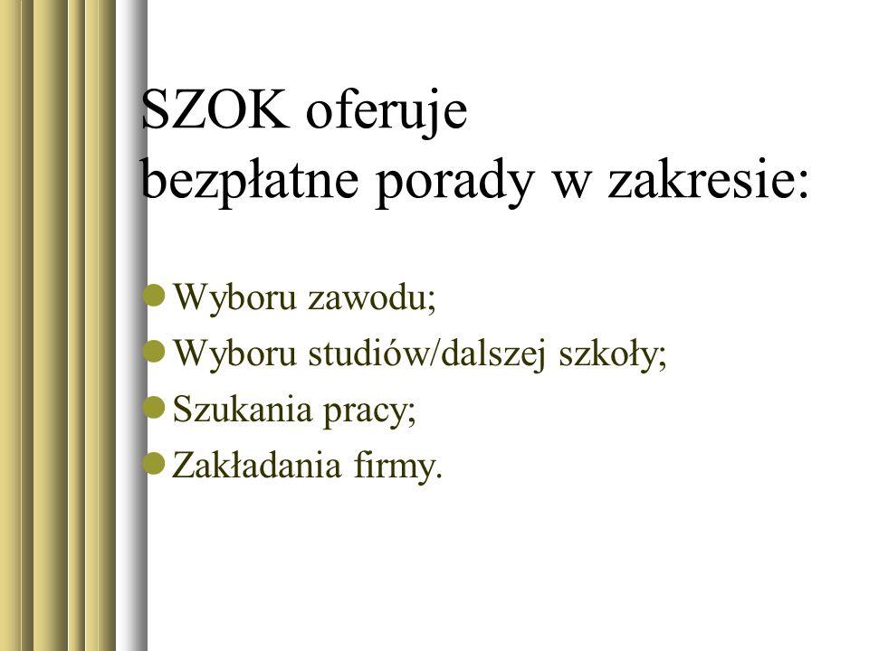 SZOK oferuje bezpłatne porady w zakresie: