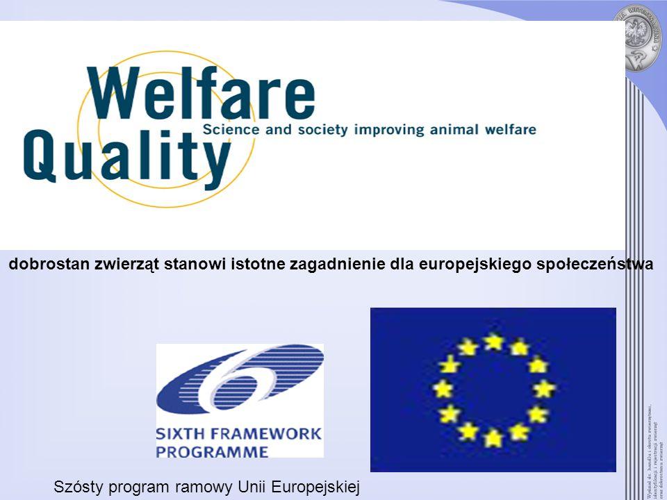 dobrostan zwierząt stanowi istotne zagadnienie dla europejskiego społeczeństwa