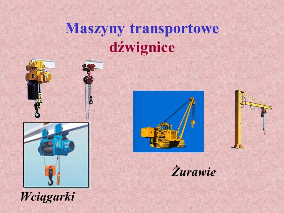 Maszyny transportowe dźwignice
