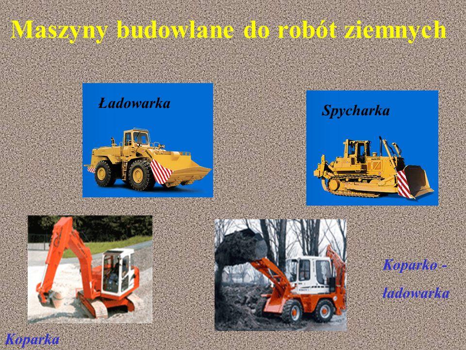 Maszyny budowlane do robót ziemnych