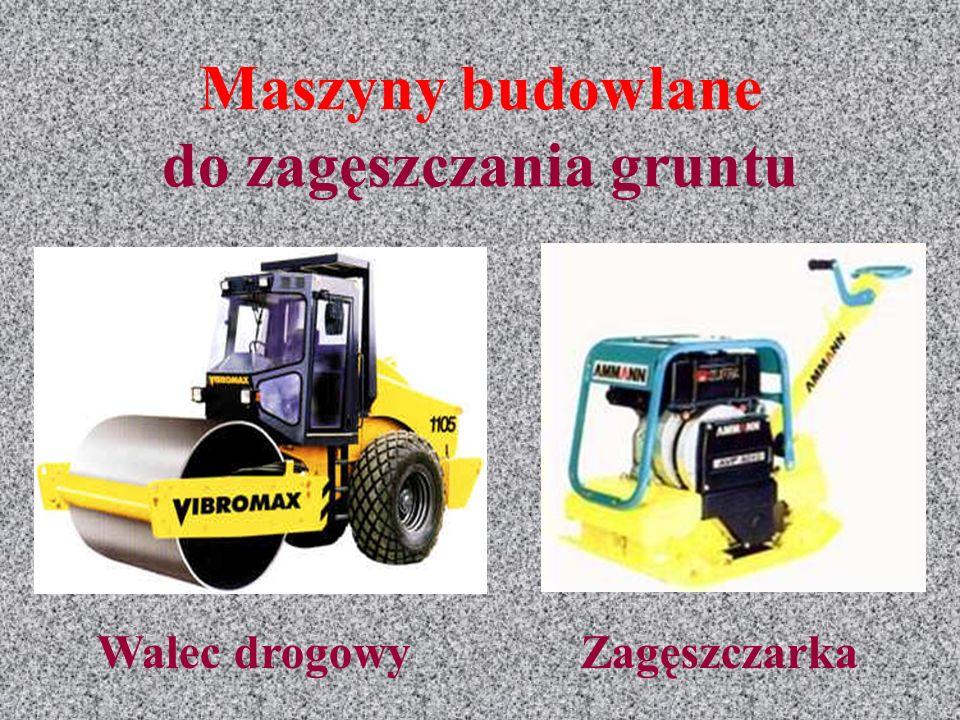 Maszyny budowlane do zagęszczania gruntu