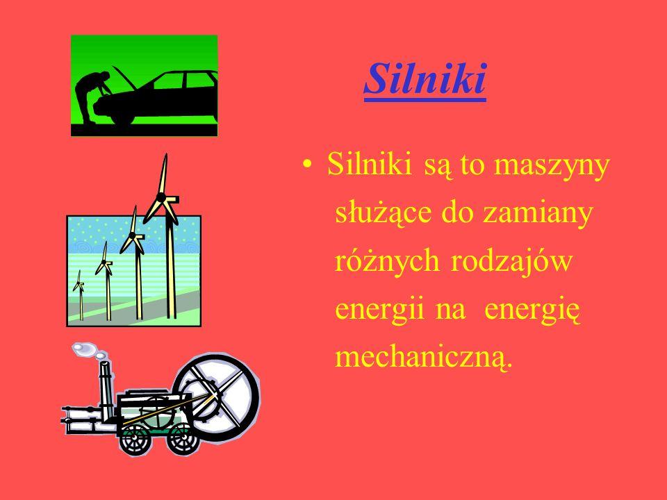 Silniki Silniki są to maszyny służące do zamiany różnych rodzajów