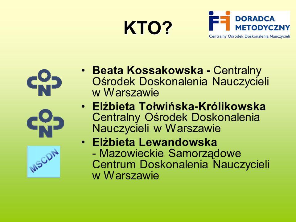 KTO Beata Kossakowska - Centralny Ośrodek Doskonalenia Nauczycieli w Warszawie.