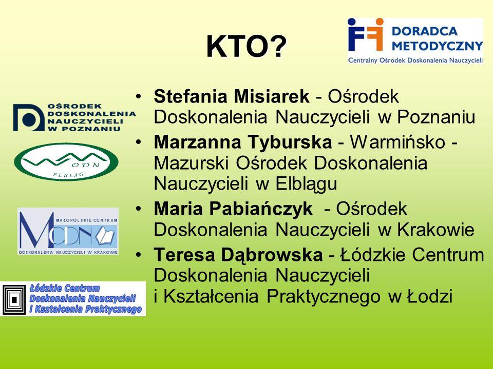KTO Stefania Misiarek - Ośrodek Doskonalenia Nauczycieli w Poznaniu