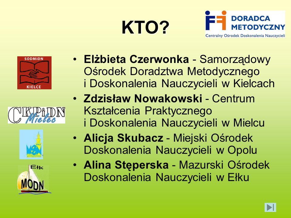 KTO Elżbieta Czerwonka - Samorządowy Ośrodek Doradztwa Metodycznego i Doskonalenia Nauczycieli w Kielcach.