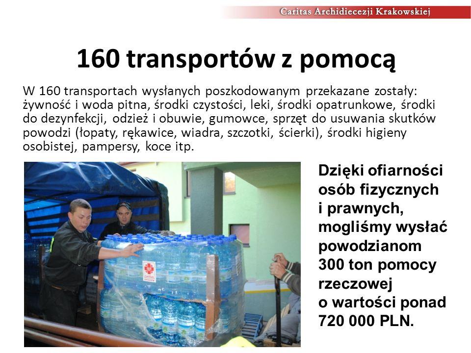 160 transportów z pomocą