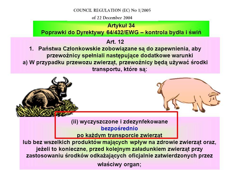 Poprawki do Dyrektywy 64/432/EWG – kontrola bydła i świń