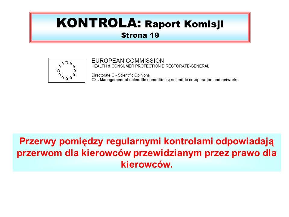 KONTROLA: Raport Komisji