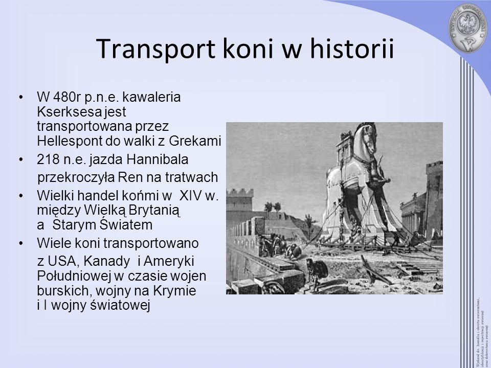 Transport koni w historii