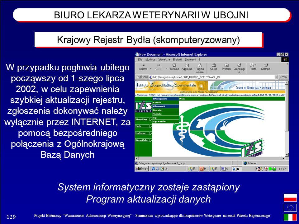 System informatyczny zostaje zastąpiony Program aktualizacji danych