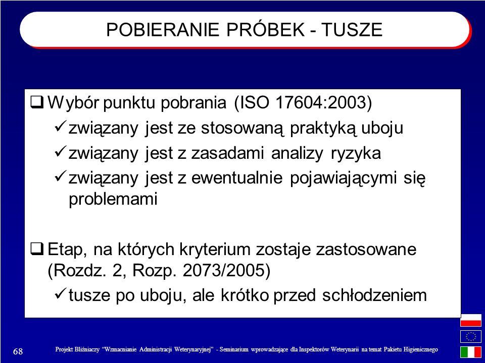 POBIERANIE PRÓBEK - TUSZE