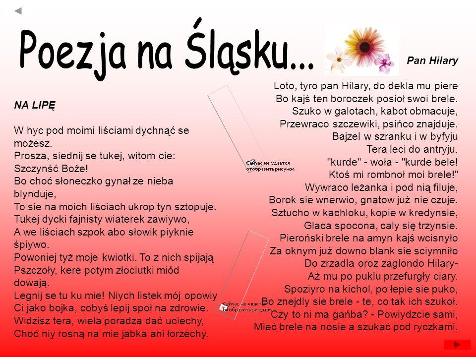 Poezja na Śląsku... Pan Hilary