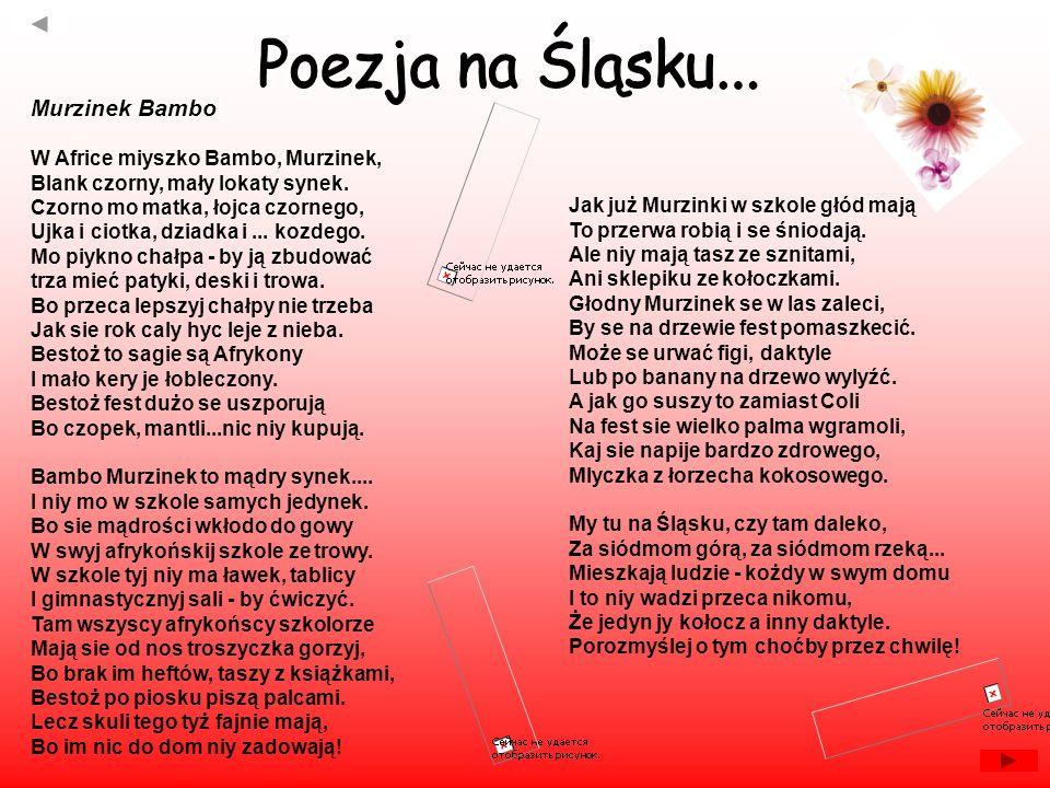 Poezja na Śląsku... Murzinek Bambo