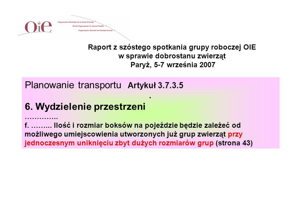 Planowanie transportu Artykuł 3.7.3.5 6. Wydzielenie przestrzeni