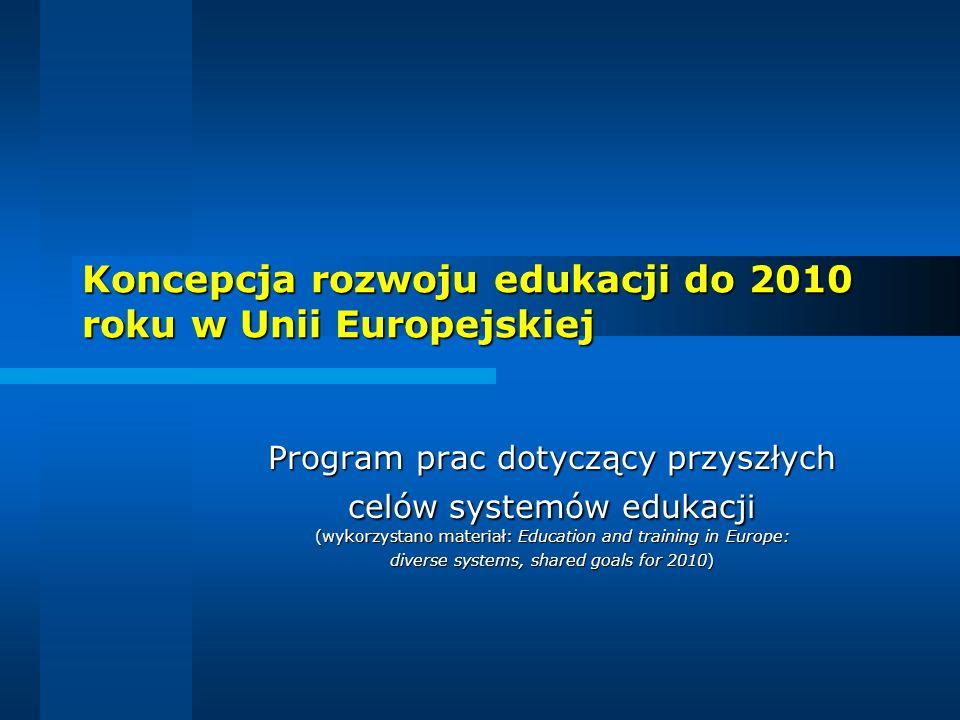 Koncepcja rozwoju edukacji do 2010 roku w Unii Europejskiej