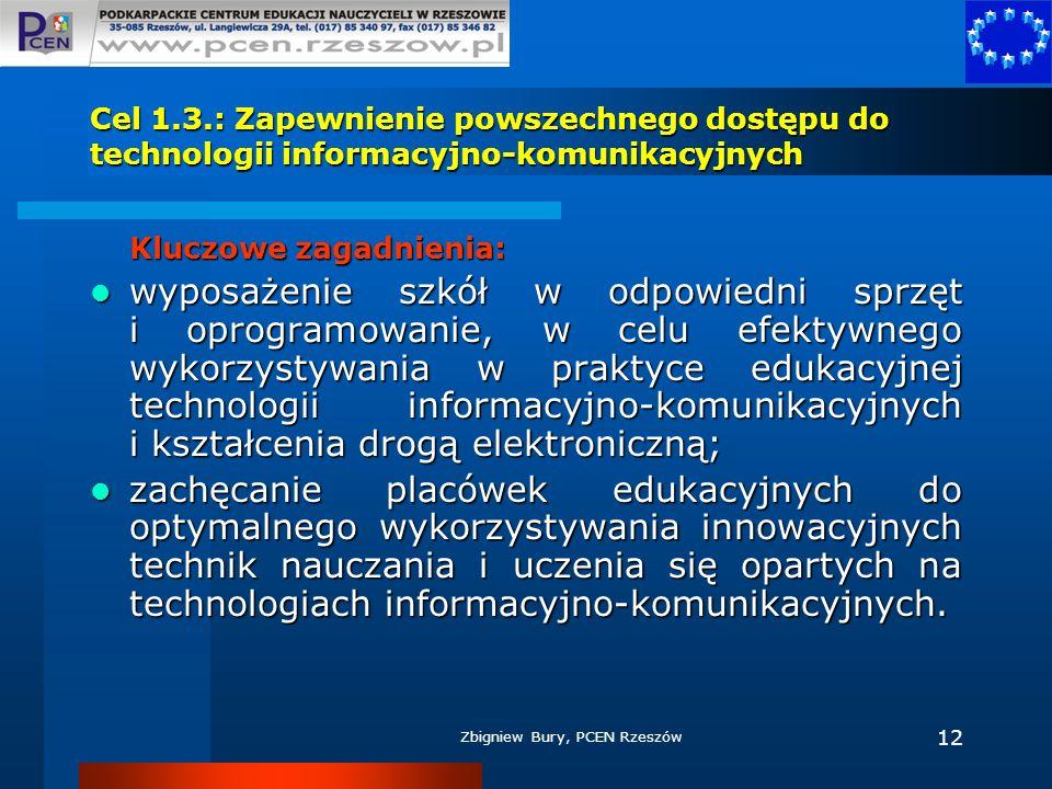 Cel 1.3.: Zapewnienie powszechnego dostępu do technologii informacyjno-komunikacyjnych