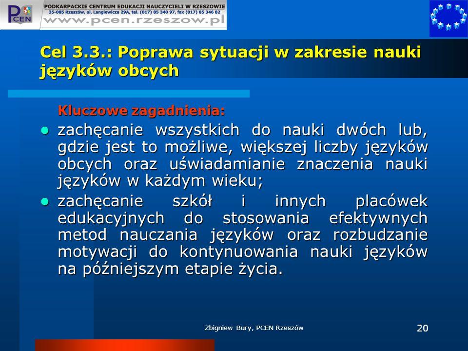 Cel 3.3.: Poprawa sytuacji w zakresie nauki języków obcych
