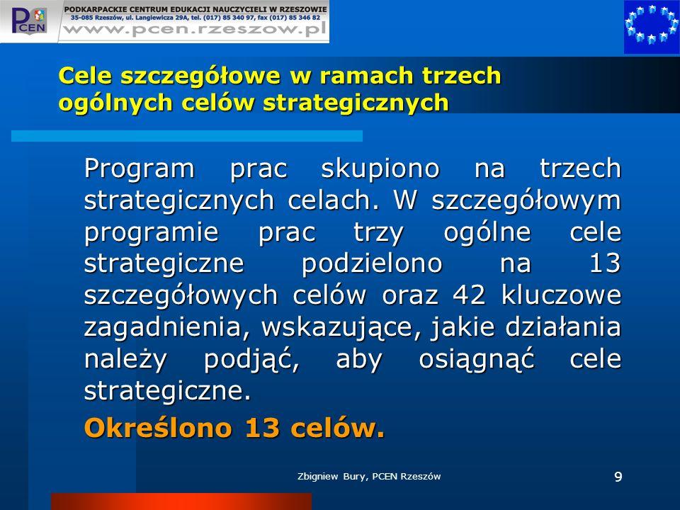 Cele szczegółowe w ramach trzech ogólnych celów strategicznych