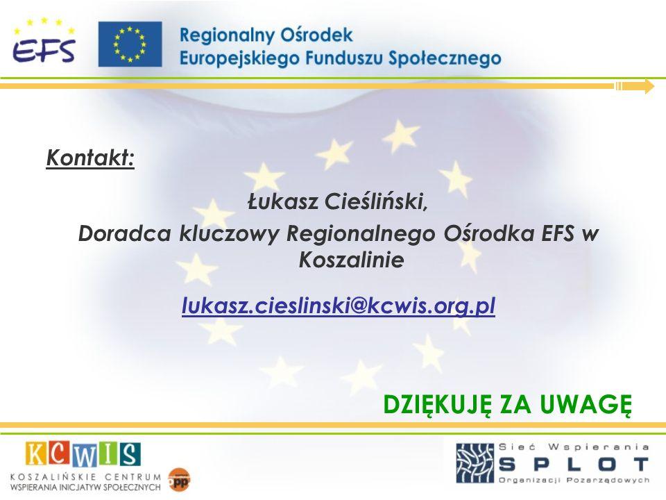 Doradca kluczowy Regionalnego Ośrodka EFS w Koszalinie