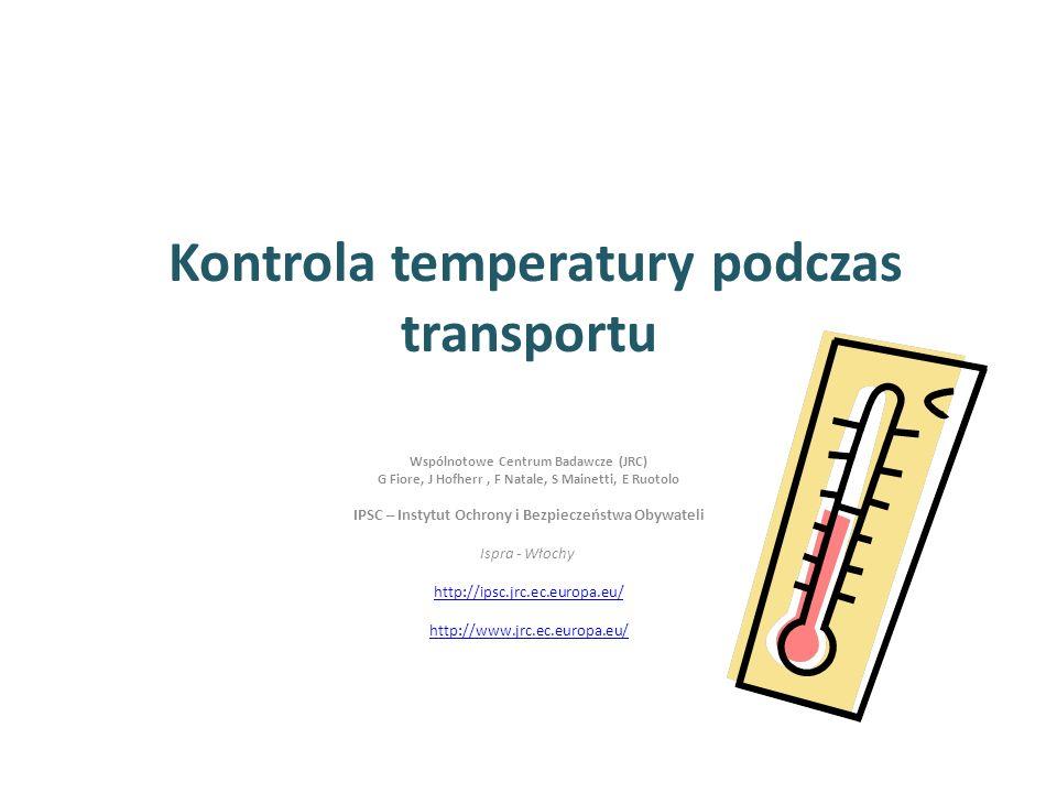Kontrola temperatury podczas transportu