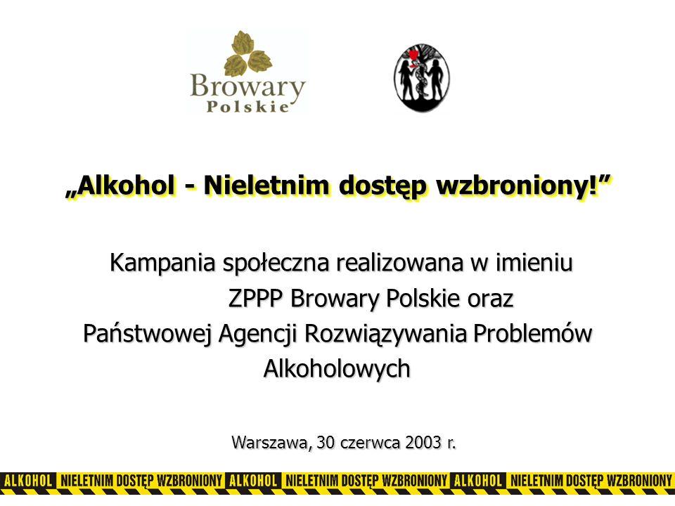 """""""Alkohol - Nieletnim dostęp wzbroniony!"""