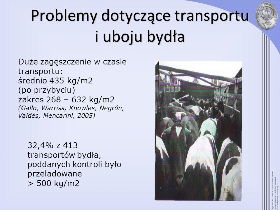 Problemy dotyczące transportu i uboju bydła