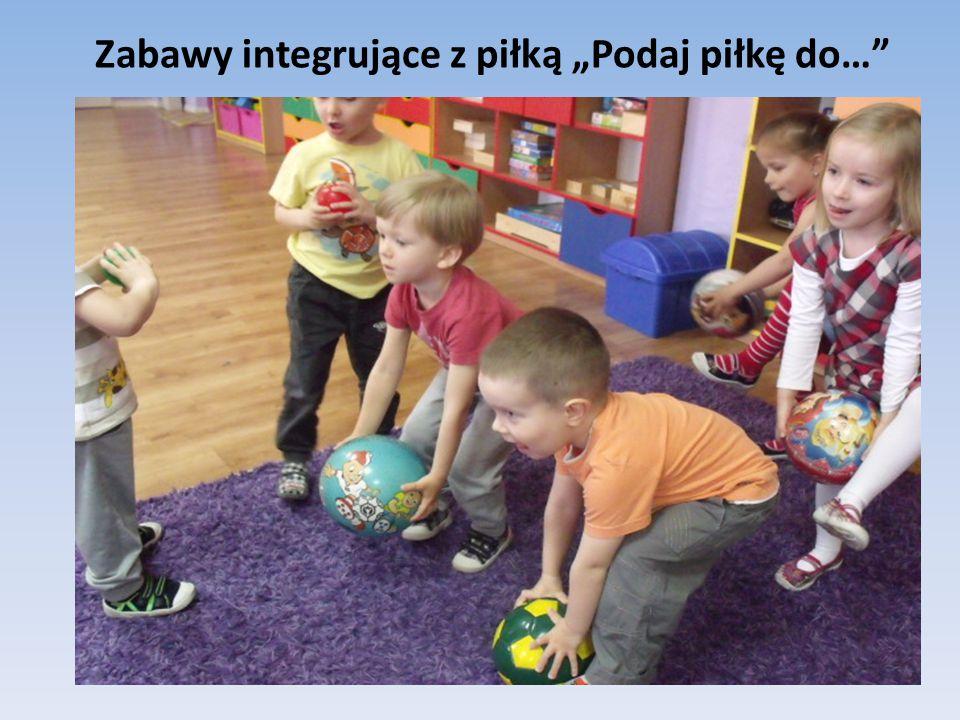 """Zabawy integrujące z piłką """"Podaj piłkę do…"""