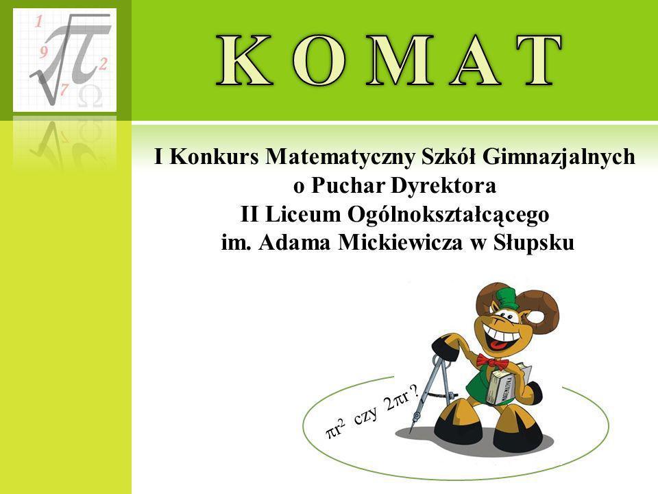 K O M A T I Konkurs Matematyczny Szkół Gimnazjalnych
