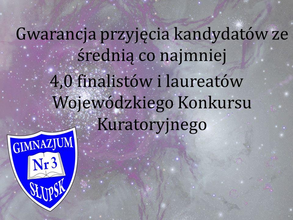4,0 finalistów i laureatów Wojewódzkiego Konkursu Kuratoryjnego