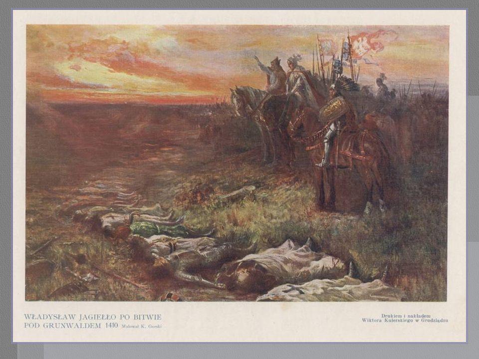 Władysław Jagiełło po bitwie pod Grunwaldem.