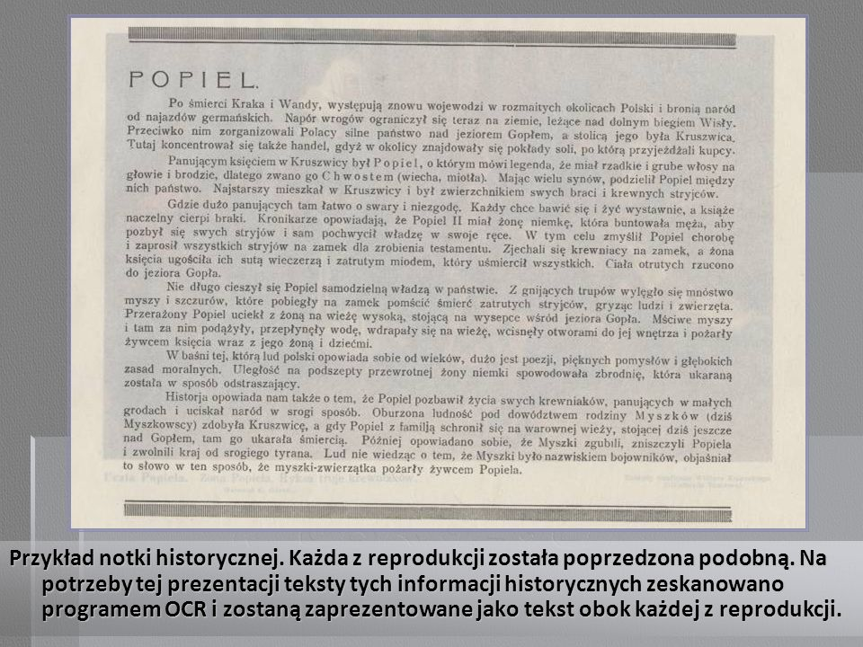 Przykład notki historycznej