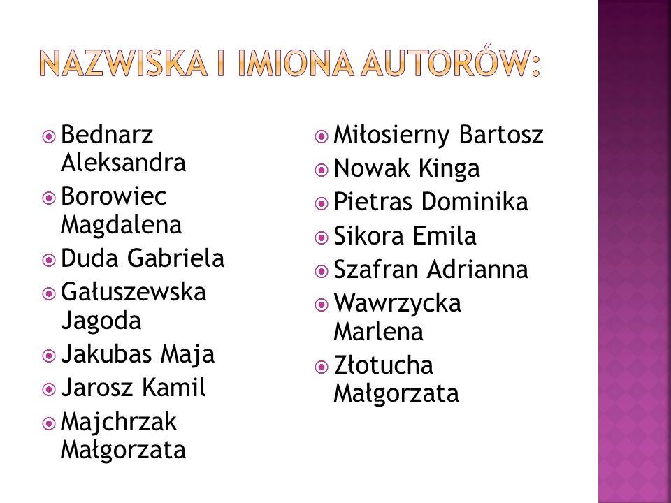 NAZWISKA I IMIONA AUTORÓW: