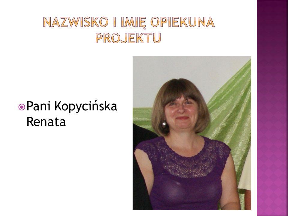 Nazwisko i imię Opiekuna Projektu