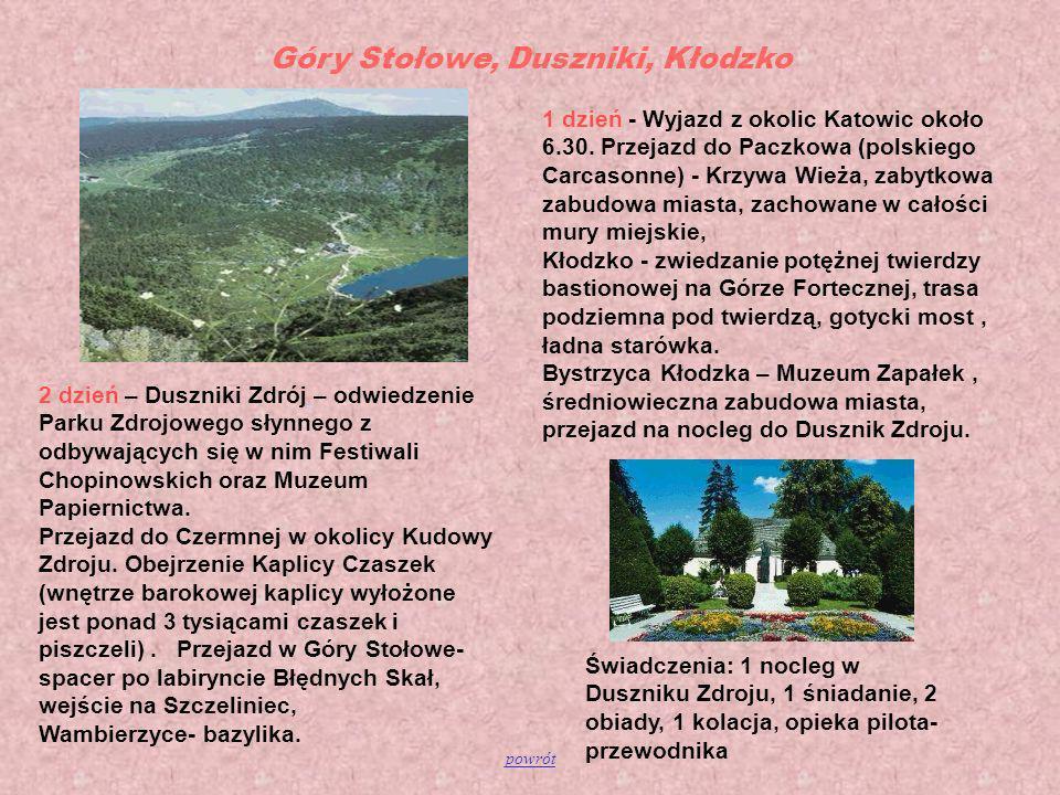Góry Stołowe, Duszniki, Kłodzko
